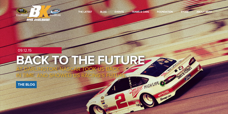 The web site of Brad Keselowski, BradRacing.com.